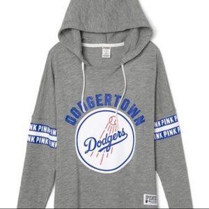 VS Pink Los Angeles Dodgers Pullover Hoodie MLB